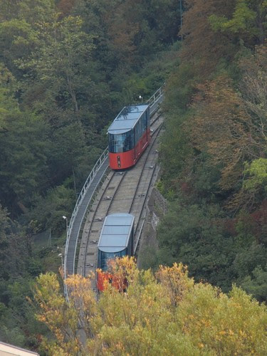 DSCN9308 _ Schloßbergbahn Funicular, Graz, 9 October