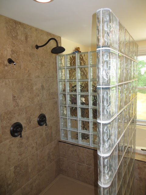 Glass Block Walk In Shower - Contemporary - st louis - by ...