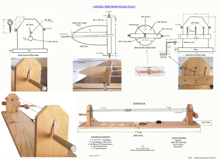 How To Build A Ropewalk For Ship Models