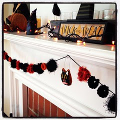 Halloween crocheted bunting