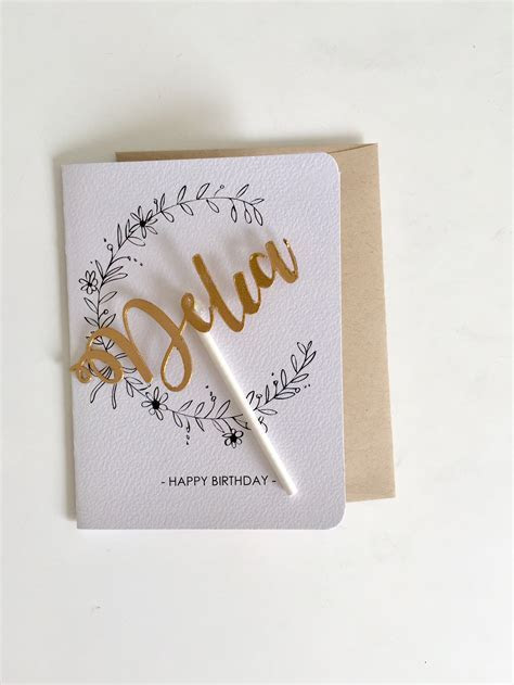 Personalised card topper  happy birthday cards