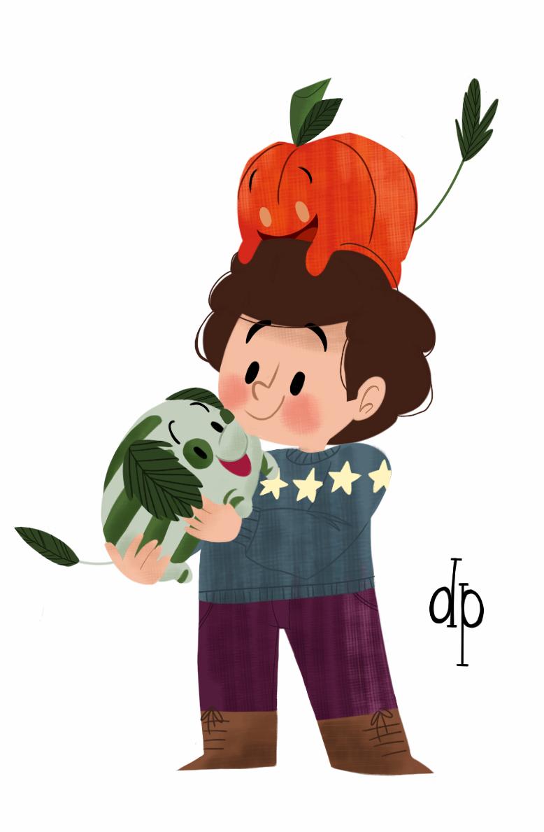 Watermelon doggie and pumpkin doggie
