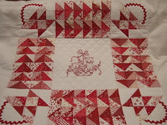 Redwork Kitty Quilt 005