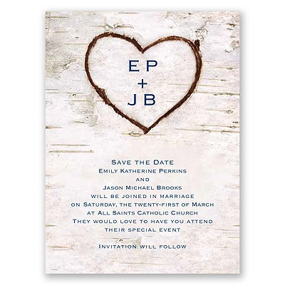 Carved in Love - Save the Date Card