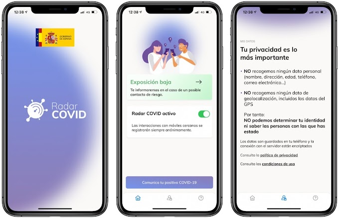 The Radar COVID app is activated in Spain