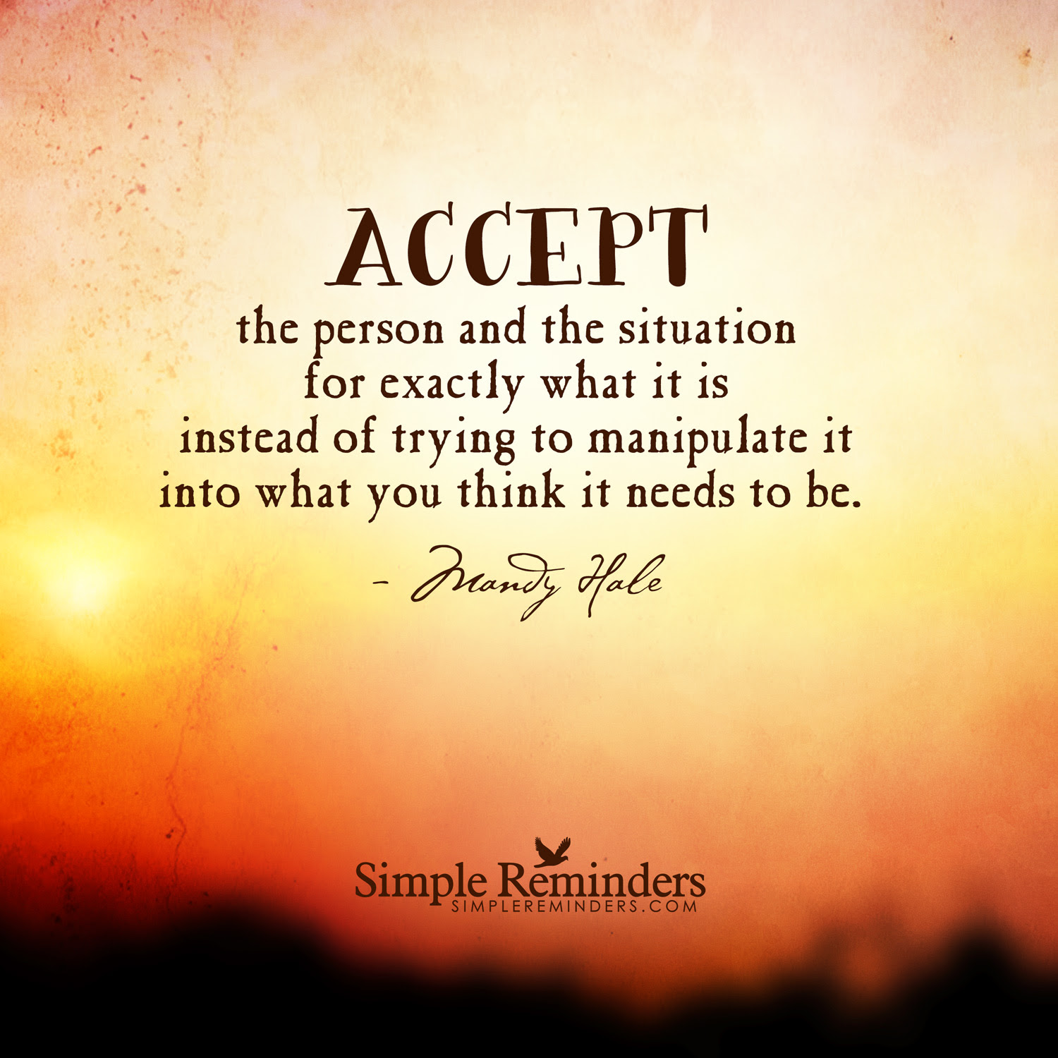 Quotes About Accepting The Situation 28 Quotes