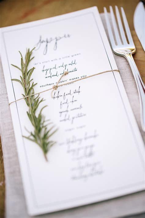 Creative and Unique Wedding Reception Menu Designs