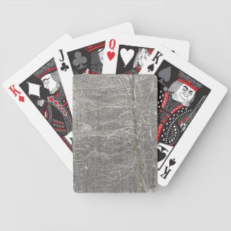 Snow Falling Bicycle Poker Deck