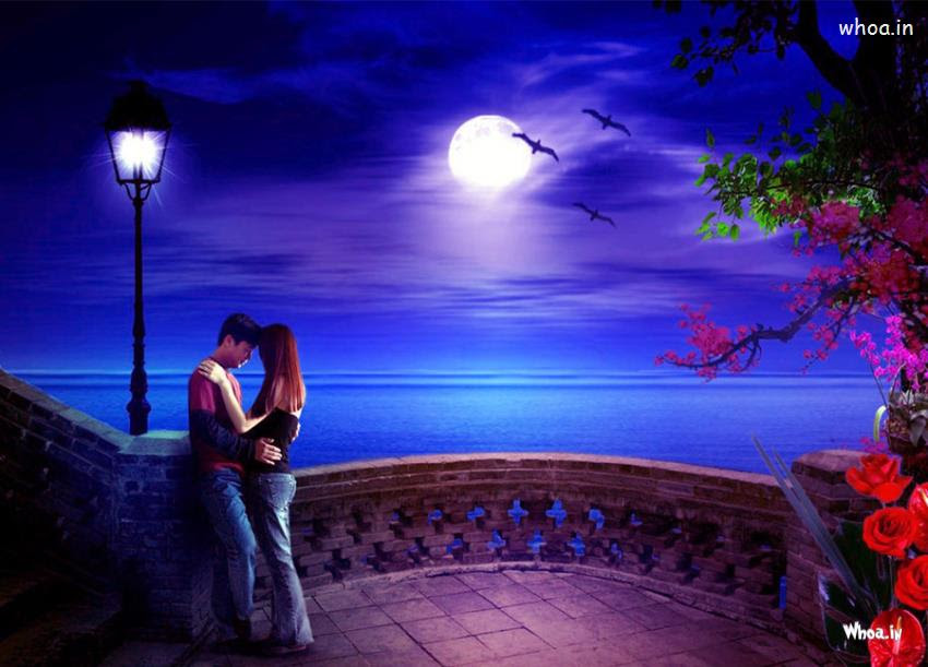 4000 Romantic Couple On Beach Wallpaper Hd HD