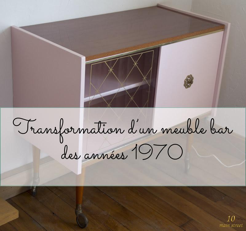 Rénovation Dun Meuble Bar Des Années 1970 Plaqué Acajou Verni