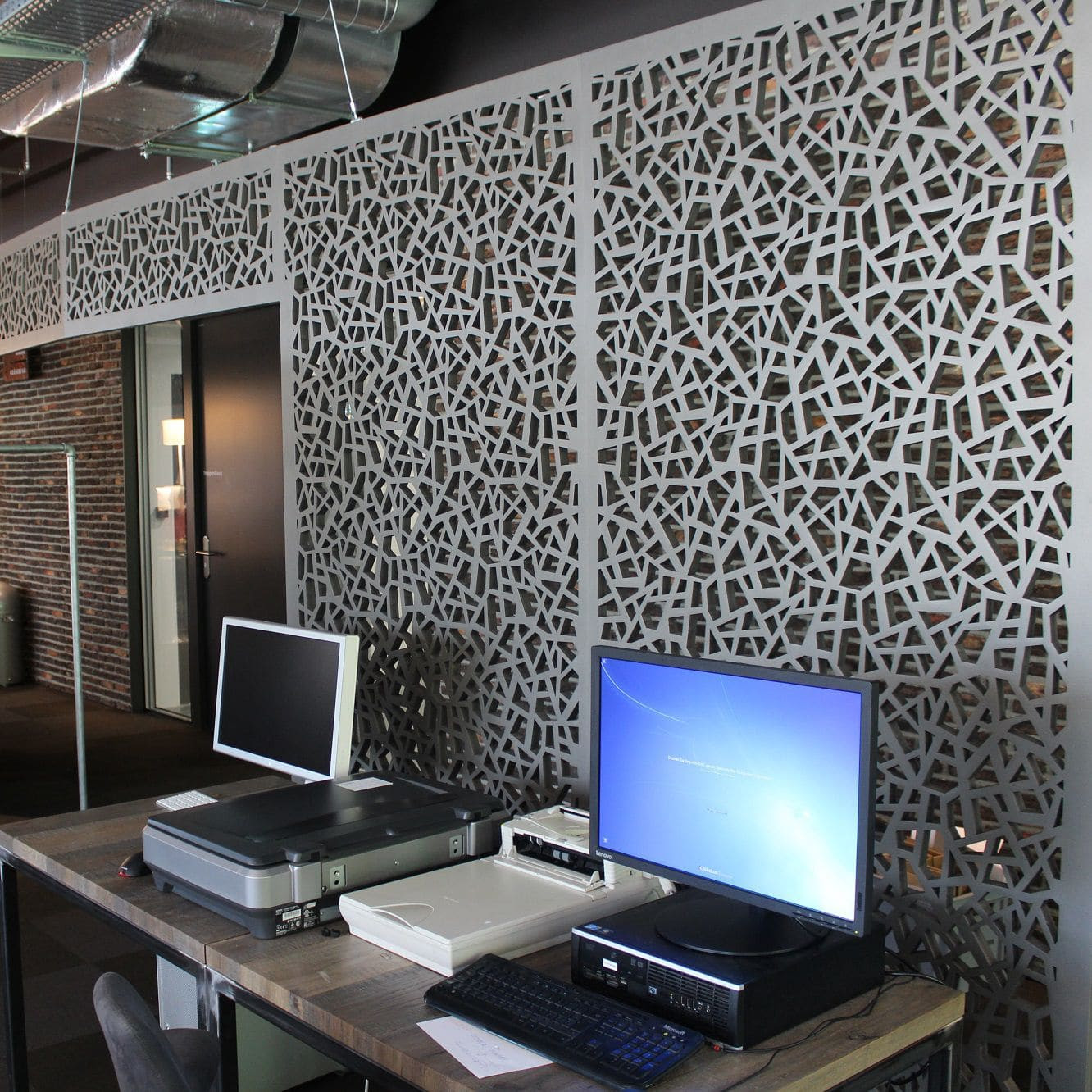 Mdf Decorative Panel For Partition Walls Perforated Office