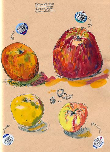 December 2011: Evening Apples by apple-pine