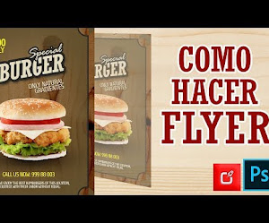 TUTORIAL PHOTOSHOP CS6, Como hacer un Flyer de burger