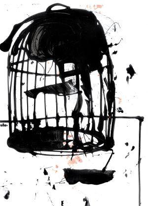 Ilustración de Frederic Amat para 'Las virtudes del pájaro solitario'