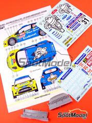 Reji Model: Transkit escala 1/24 - Ford Fiesta RRC Michelin Nº 31 - Malcolm Wilson (GB) + Scott Martin (GB) - Rally de Gales 2014 - resinas, calcas - para kit de Belkits BEL-003