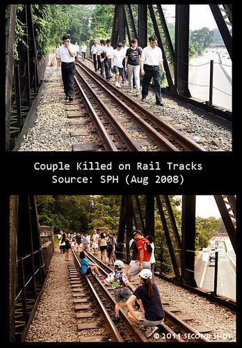 Couple Killed on Rail Tracks