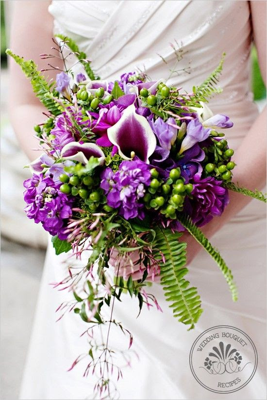 Bouquetflower Purple And Green Wedding Bouquet 2372950 Weddbook