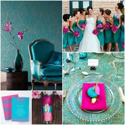 45 best images about Fuchsia & Teal Wedding on Pinterest