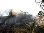Incêndio em vegetação ameaça casas  (Yuri Marcel/G1)