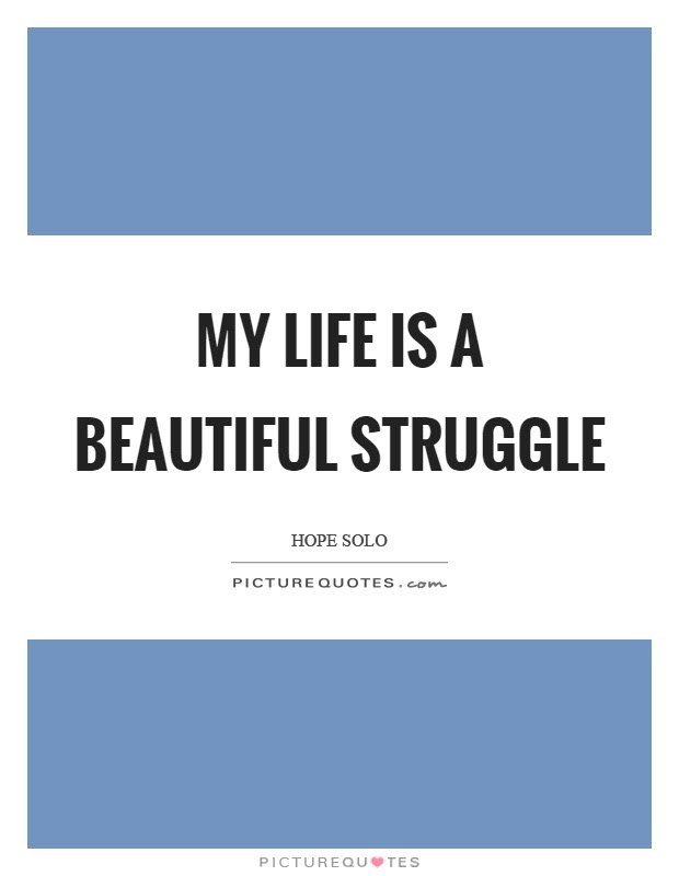 My Life Is A Beautiful Struggle Picture Quotes