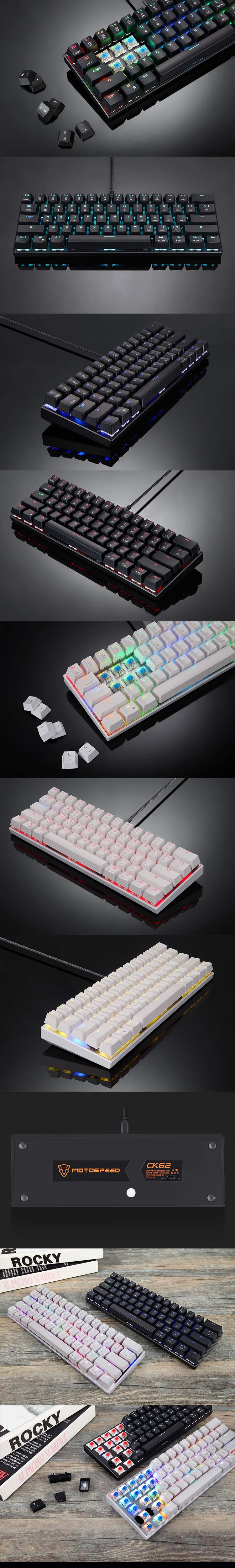 Ck62 Rgb Wired Bluetooth Dual Mode Mechanical Keyboard Mechanical Keyboard Motospeed