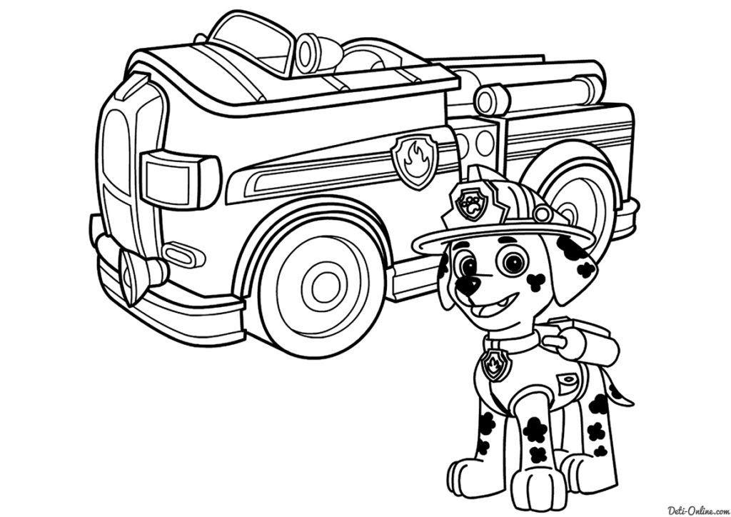 Dibujos De Paw Patrol Para Colorear Gratis