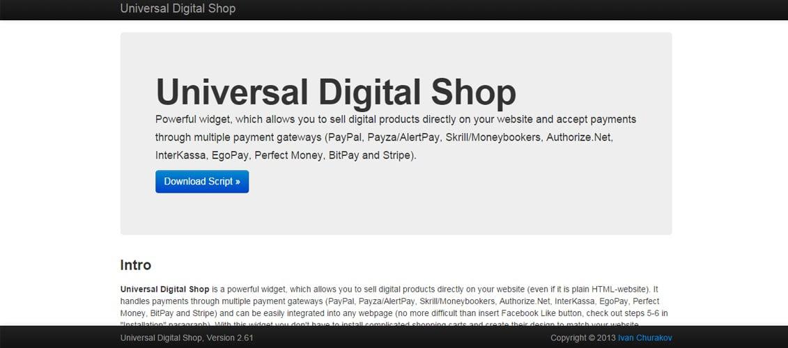 Universal Digital Shop