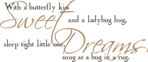 Sweet Dreams Bug In A Rug   Wall Decals   Trading Phrases