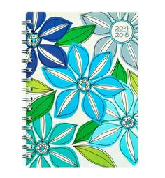 2016-2017 Whimsical Flower Small Weekly/Monthly Planner by Studio ...