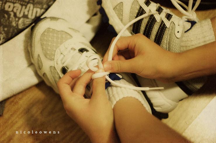 shoes full of feet