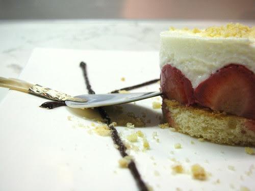 Mousse di joghurt greco e fragole