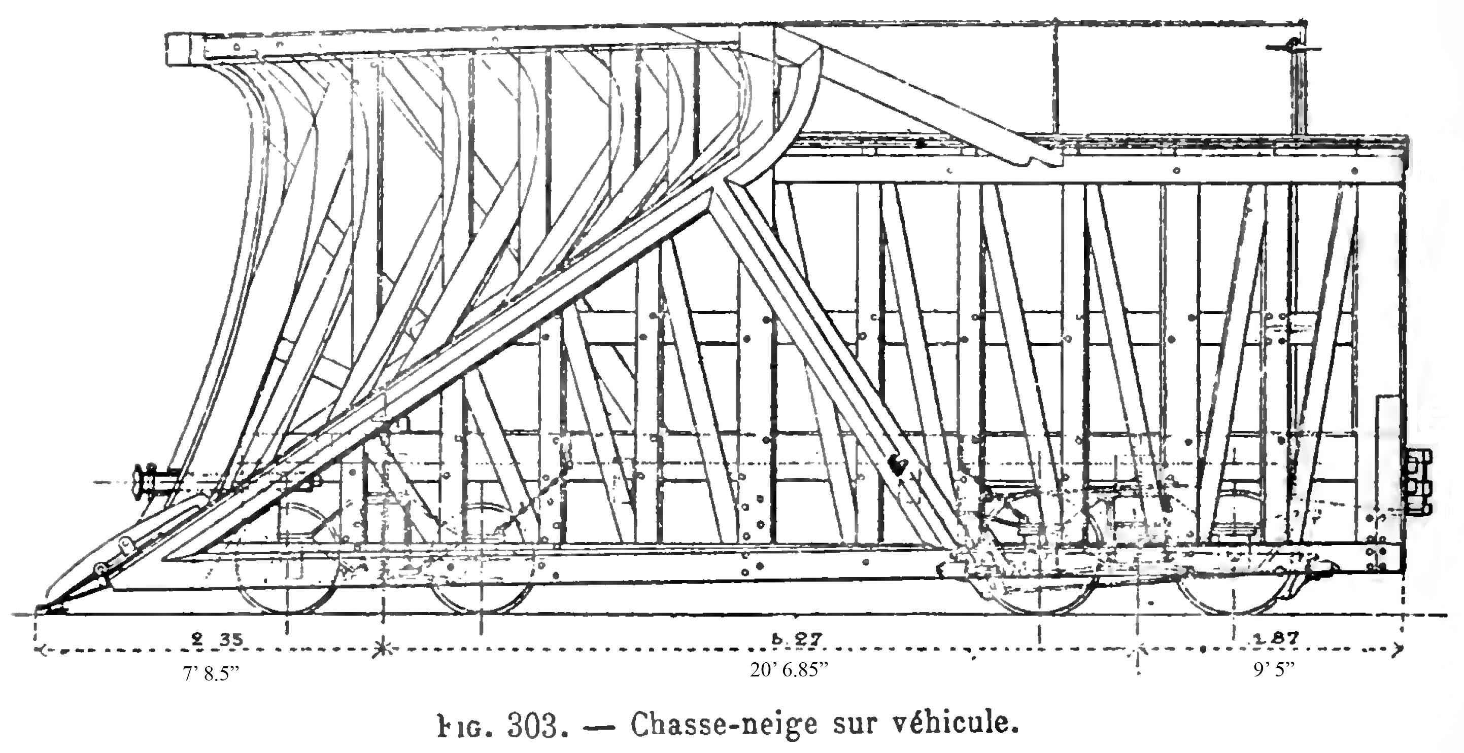 Snowplow CP #9 - Exploitation Technique des Chemins de Fer, Galine, 1907, p.666