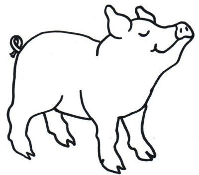 Dibujo De Cerdo Dibujo Para Colorear De Cerdo Dibujos Infantiles