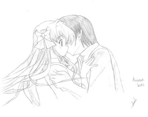 anime drawing images anime kiss hd wallpaper