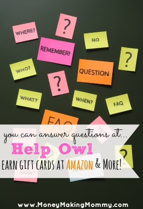 Answer Questions at Help Owl and Earn Amazon Gift Cards