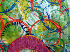 prayer flag: breast cancer ~detail