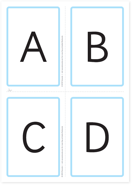 Free alphabet flashcards for kids - Totcards