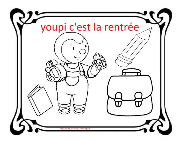 Coloriages Pour La Rentree Des Classes