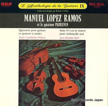 LOPEZ RAMOS, MANUEL l'anthologie de la guitare ix