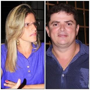 Francinete Rocha, secretária de Educação e o prefeito Veronildo Tavares