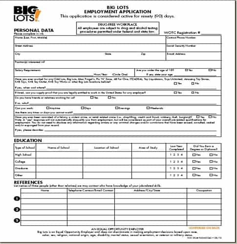 Job Application Form Dollar General on form for, poth texas, complete print out, print out pdf, store careers, store print, print sheets,