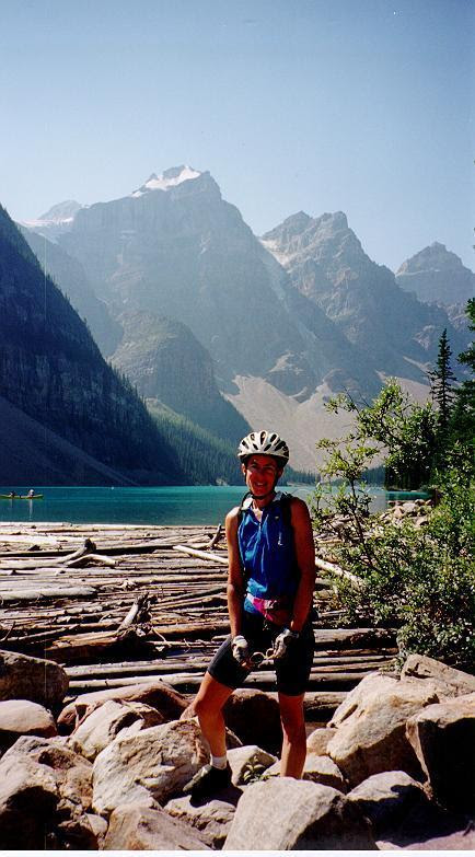Denise at Moraine Lake