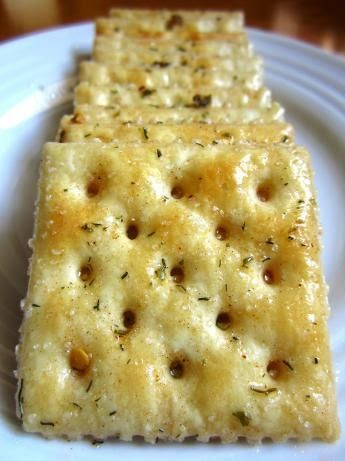 My mom makes these at the holidays and they are INCREDIBLE! Fire Crackers ~ 1 lb unsalted Saltine Crackers, cup Canola Oil, Ranch Dressing Mix, Red Pepper Flakes, Garlic Powder. Once you start munching you just can't stop!! We love these too.