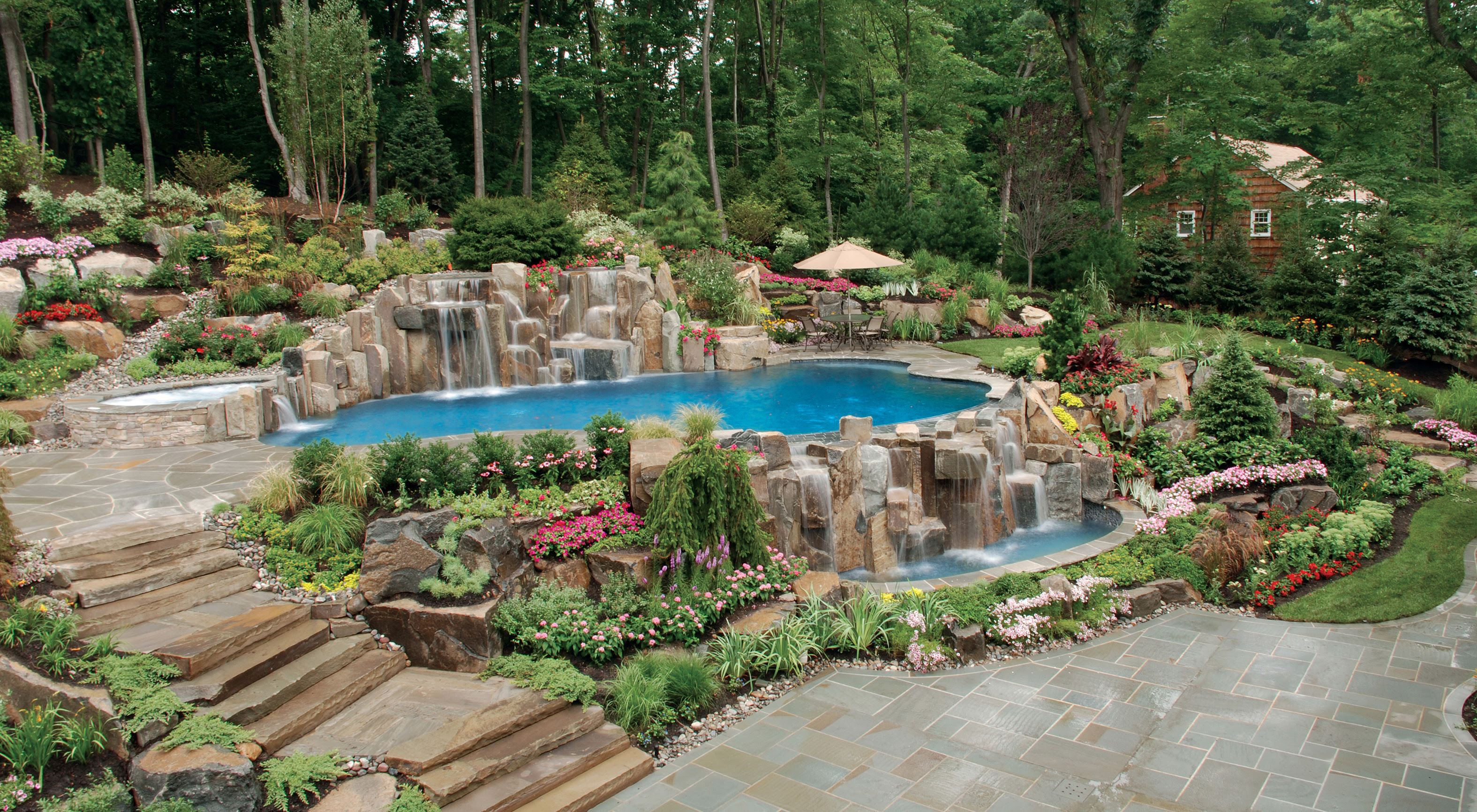 Inground Pool Swimming Landscaping Design