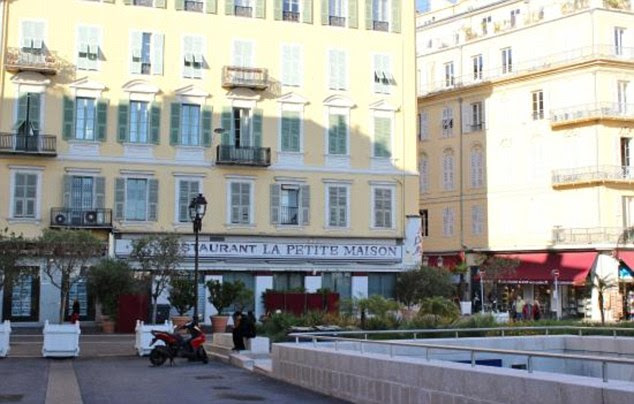 The 56-year-old U2 lead singer was on the terrace of 'La Petite Maison' (pictured), next to the seafront in the French city when mass murderer Mohamed Lahouaiej Bouhlel struck