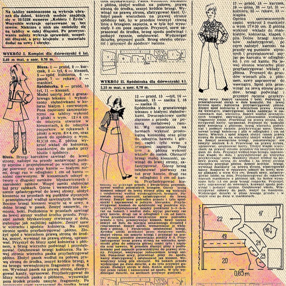 12x12 Prima Black Resist Canvas - Newsprint