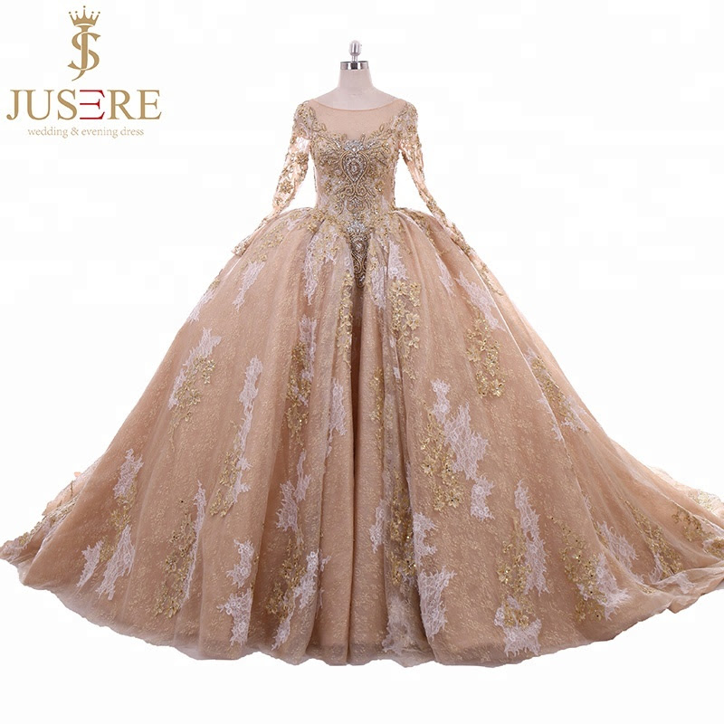 Desain Pernikahan Ball Gown Hijab Wedding Dress