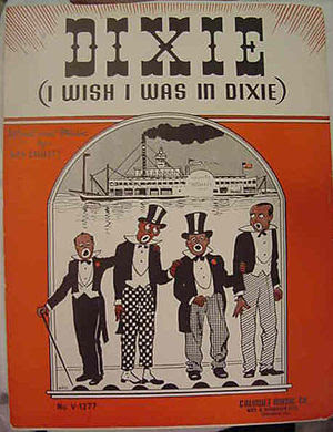 "Sheet music for ""Dixie"""