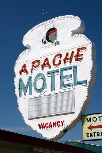 apache motel neon sign
