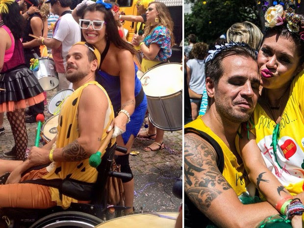 Rodrigo Bottini toca na bateria do bloco Bangalafumenga, que desfila neste sábado em São Paulo (Foto: Arquivo pessoal/Rodrigo Bottini)